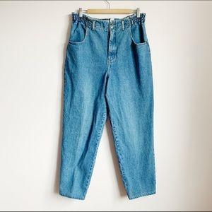 ultra high waist vintage mid wash mom jeans